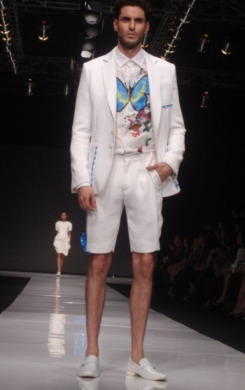 Male Outfit with Butterfly Pattern by Lie Sang Bong.