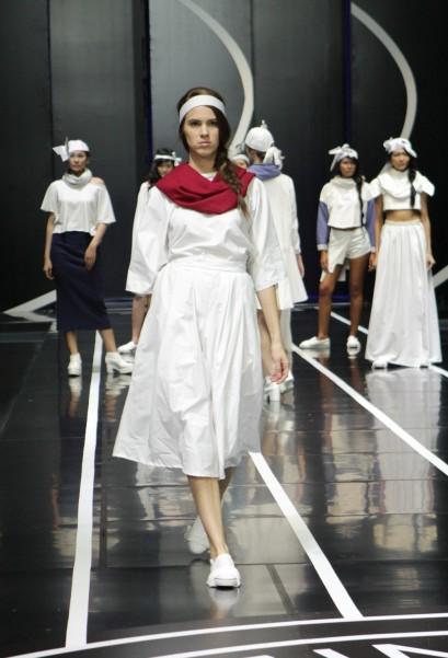 """""""You Can Do Kendo"""" oleh Afina Meyandra yang memadukan unsur street style ala Jepang dan kebudayaan Jepang dalam busana siap pakai"""